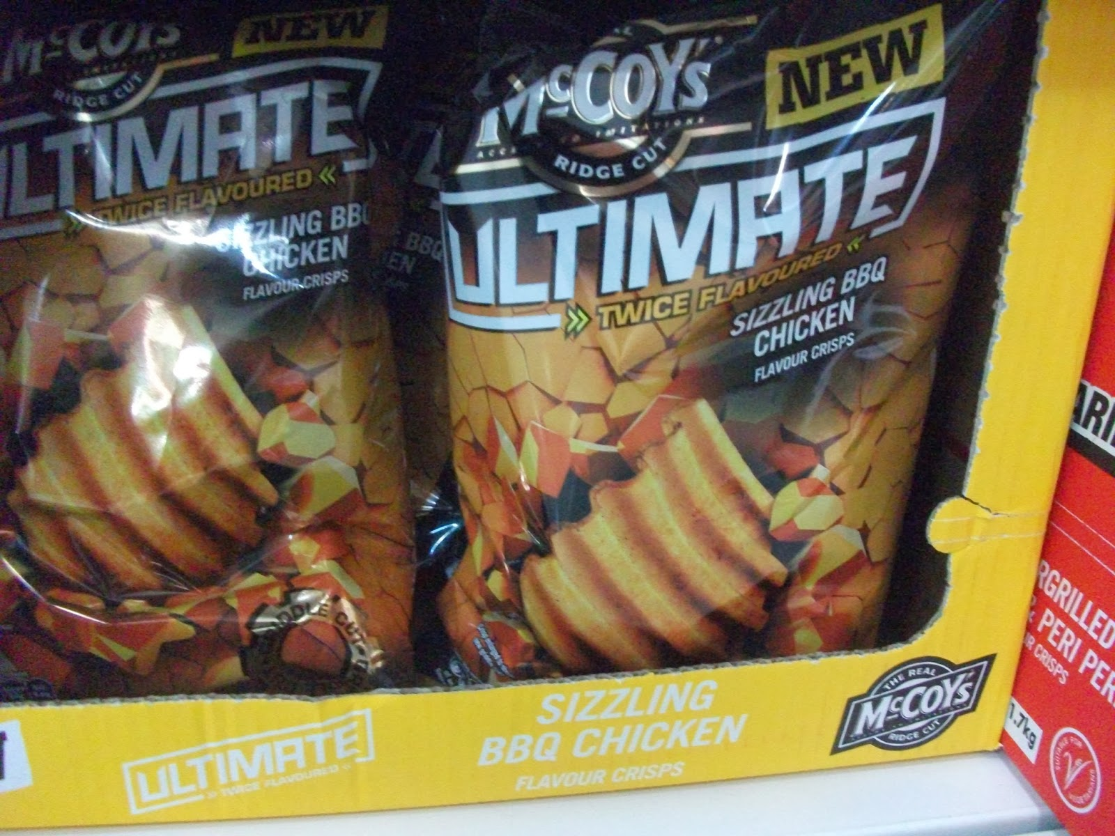 mccoy's ultimate twice flavoured crisps bbq chicken