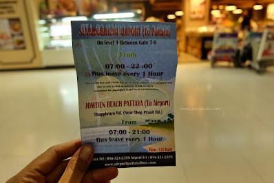 Membeli Tiket Bus Dari Suvarnabhumi Ke Pattaya