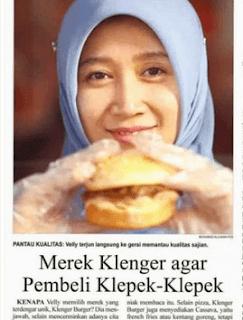 profil pengusaha burger klenger