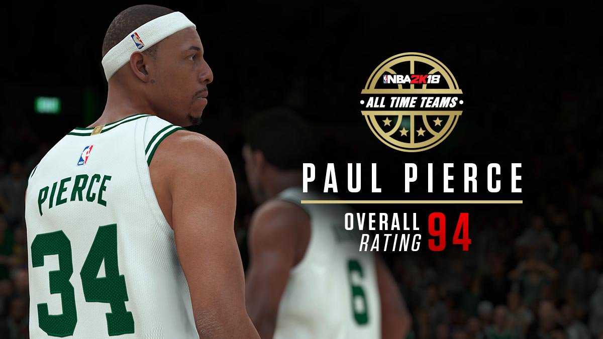 Over the last few weeks, 2k has been releasing specific player info, and  for Boston, it started with Paul Pierce's overall player rating of 94.