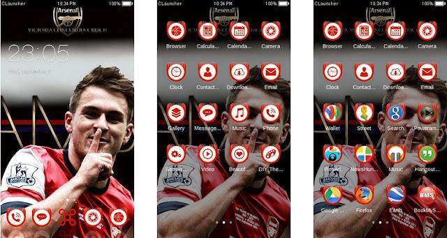 Download Tema Arsenal untuk Hp Android Apk - Selebrasi 2