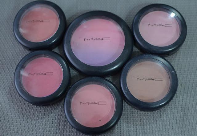Ma collection de Blush mac
