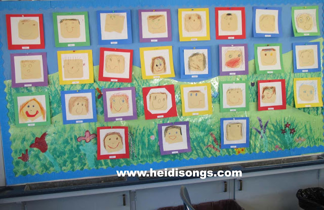 self portrait, drawing, art, kindergarten, tk, first week of school