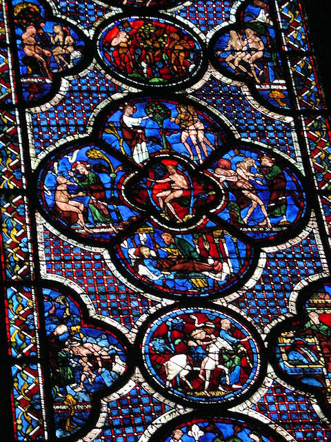 Chartres Cathedral is world renowned for its original stained-glass windows dating back to the 12th and 13th centuries.