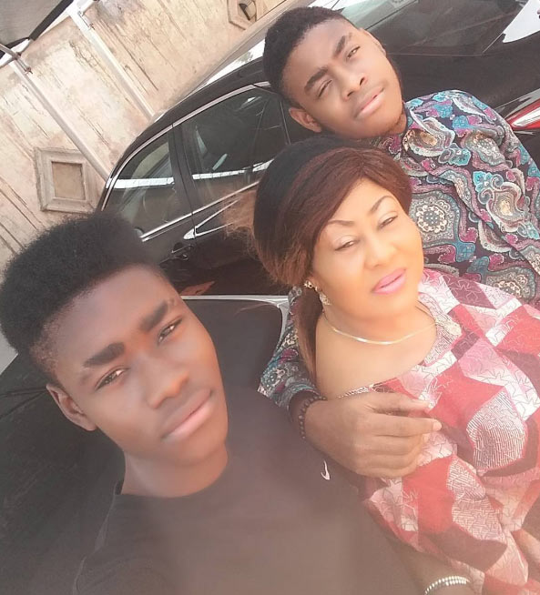 Ngozi Ezonu is thankful to God for her sons
