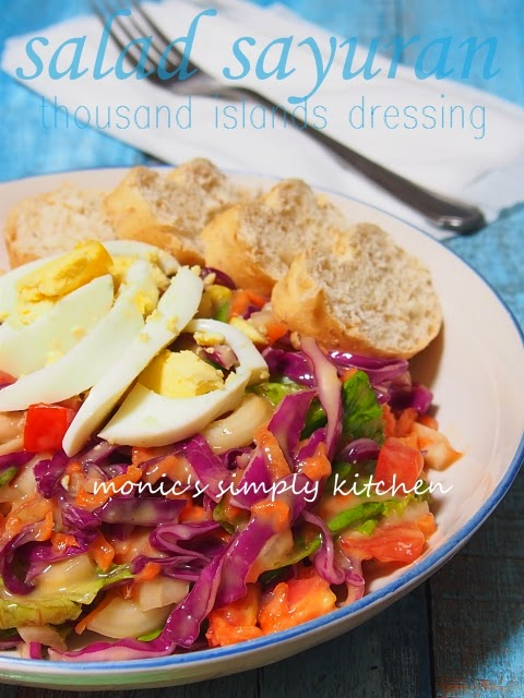salad sayuran dressing thousang island