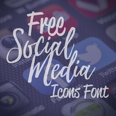 Free Social Media Icons and Font