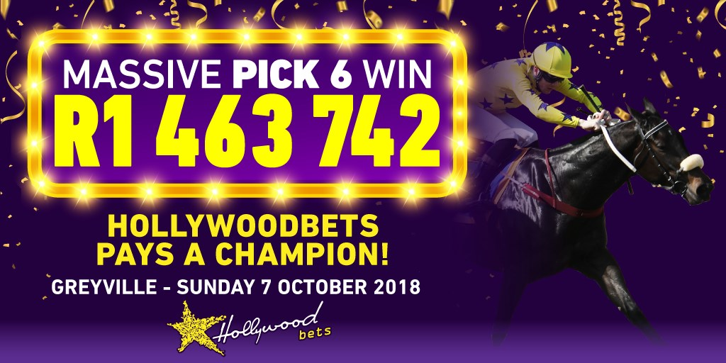 Massive Pick 6 Win at Hollywoodbets! Hollywoodbets Pays A Champion! Horse Racing Pick 6 Win for R1,463,742!