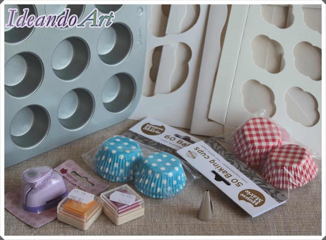 Material mini-cupcakes