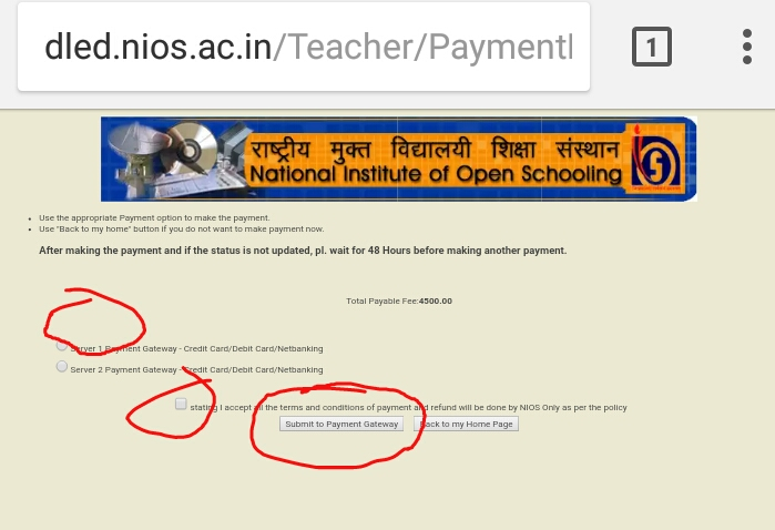 Dled nios form fillup do it yourself dont rush to online centers name fathers name adhaar no etc upload your photo step6 you are almost done click on proceed to make payment you will see the option server1 and solutioingenieria Image collections