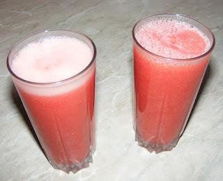 bauturi, sucuri, limonada, raw, retete, dieta, cura, regim, sanatate, pepene, pepene rosu mixat,