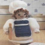 patron gratis muñeca cocinera amigurumi | free pattern amigurumi cook wrist