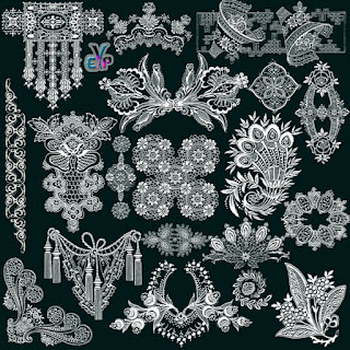 Beautiful design lace png