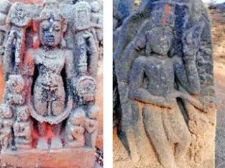 The rare statue of Lord Vishnu found in Kesharpal