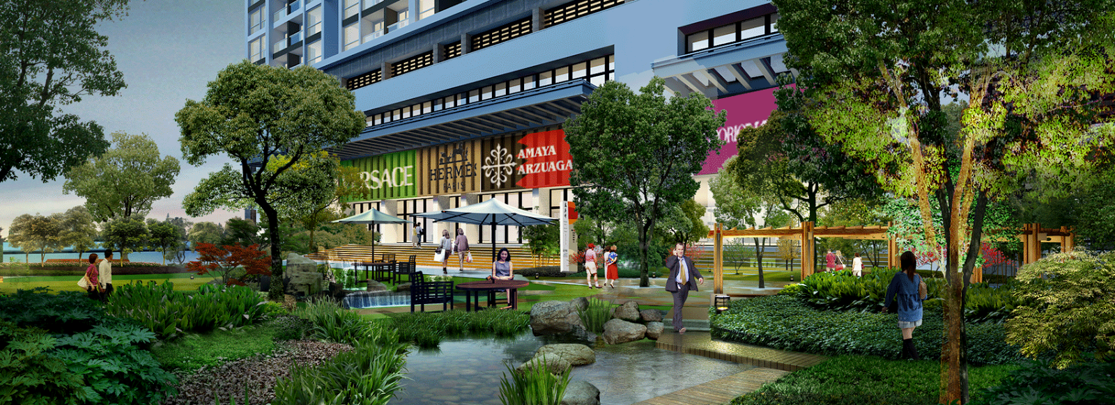 Khuôn viên xanh chung cư 378 Minh Khai