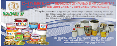 Sản xuất bao bì hộp thiếc nghành sơn, lon keo cọ nhựa, lon đựng dung môi nắp răn.