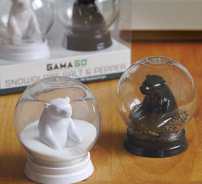 Globe Salt and Pepper Shakers