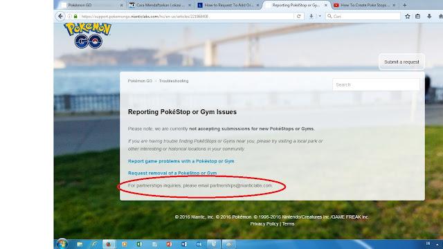 Alamat email resmi pengajuan Pokestop dan Gym baru untuk Pokemon Go