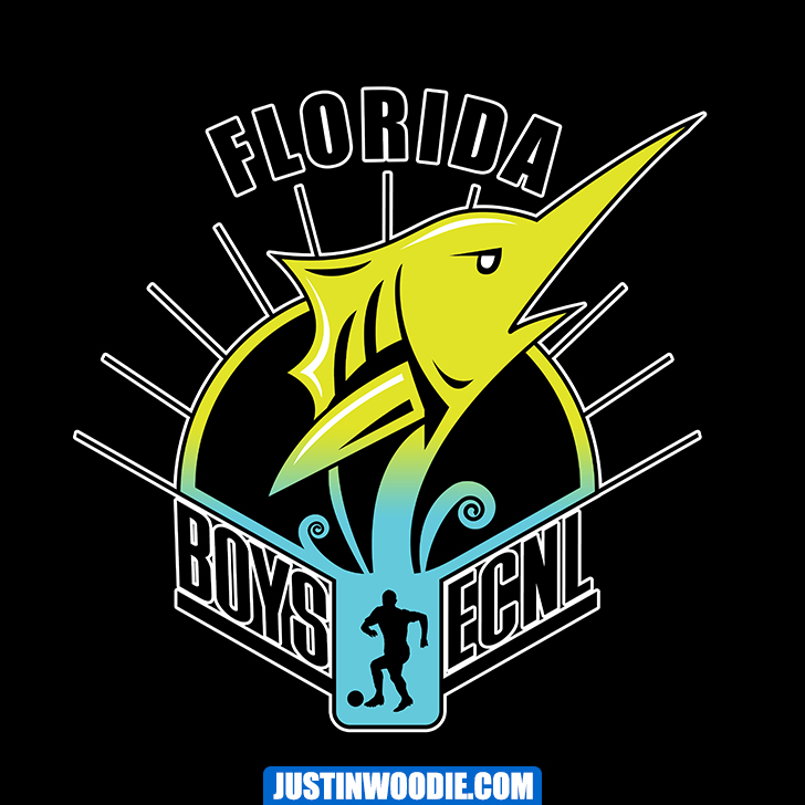 Boys ECNL Florida Graphic Logo Design