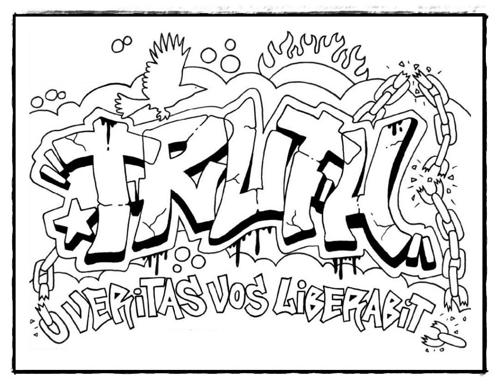 Graffitis Zum Ausmalen