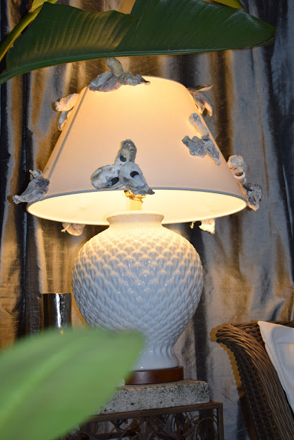 re purposing a lampshade with seasonal decor ideas.
