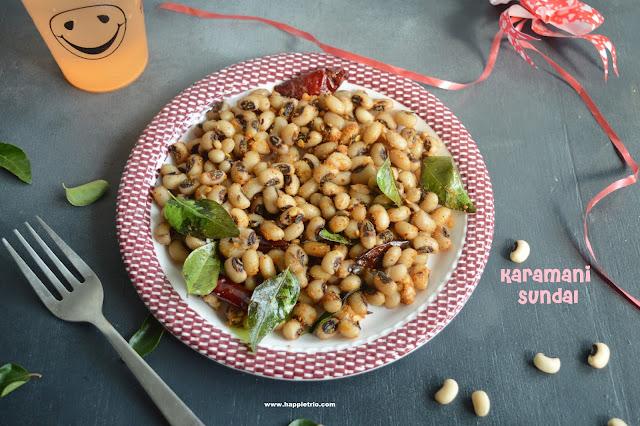 Karamani Sundal Recipe  Lobia Sundal Black Eyed Peas
