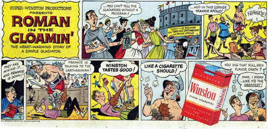 Winston advertisement 1957 - comic strip - C