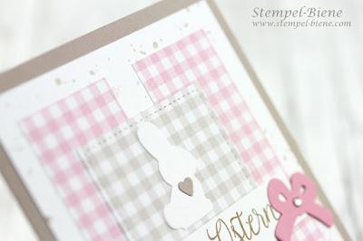Stampinup Osterkarte; stampinupreihenweisegrüße; Osterworkshop; Osterkarte mit Hase; Hasenkarte; stampinup Hasenstanze; matchthesketch; stempel-biene