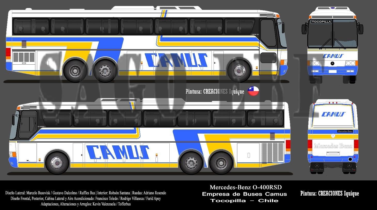 Mercedes Benz Santa Rosa >> SAGO EBF Por la Ruta del Sol: Buses Camus