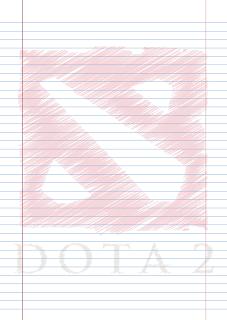Papel Pautado Dota 2 rabiscado PDF para imprimir na folha A4