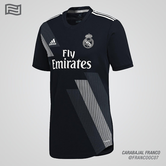 950ac513d1c Real Madrid 18-19 Home   Away Kit Concepts by Franco Carabajal ...