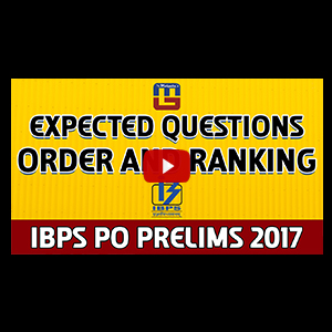 Expected Questions | Order & Ranking | Reasoning | IBPS PO PRELIMS 2017