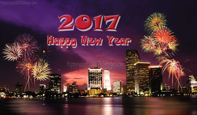Happy New Year 2017 Fireworks Ultra HD Wallpapers Download Free