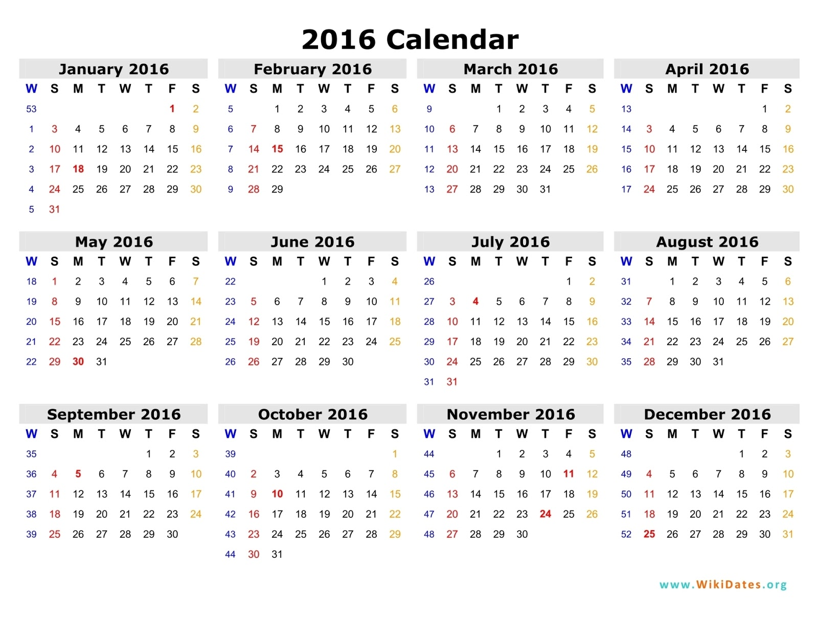 A2z Photo gallery: Download Calendar 2016 for free