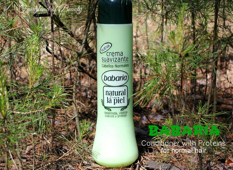 Отзыв: Кондиционер с протеинами для нормальных волос от испанского бренда Babaria.