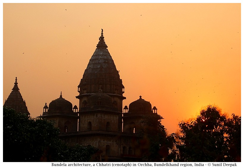 Chattris (cenotaphs) in Orchha, Bundelkhand region, central India - Images by Sunil Deepak