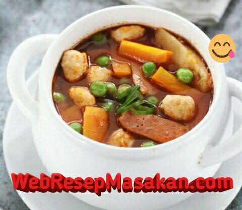 Sup merah ncc, sup ayam merah, resep sup ayam, cara membuat sup ayam merah,