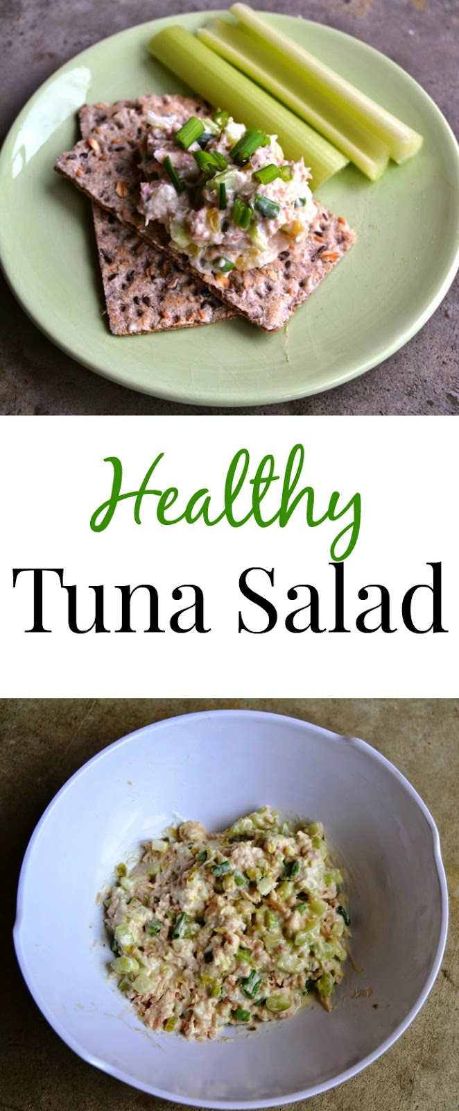 This healthy tuna salad is made lighter with Greek yogurt and is packed with vegetables for a nutritious and filling meal! www.nutritionistreviews.com