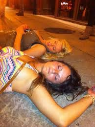 Funny Picture of Drunk female