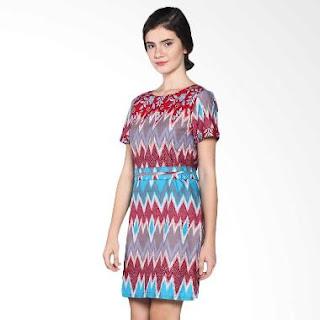 Dress Batik Etnik Modern untuk Wanita