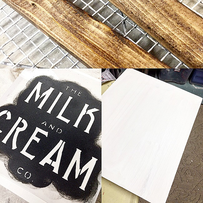 Making a Special Order Farmhouse Milk and Cream Sign