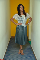 Eesha in a cute deep neck top and Skirt at at Big FM 002.JPG