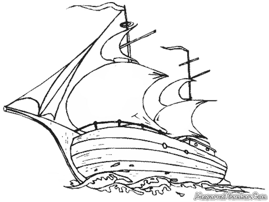 Mewarnai Gambar Kapal Laut | Mewarnai Gambar
