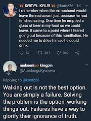 Twitter user's reply to a lady who walked out of an abusive relationship will leave you speechless