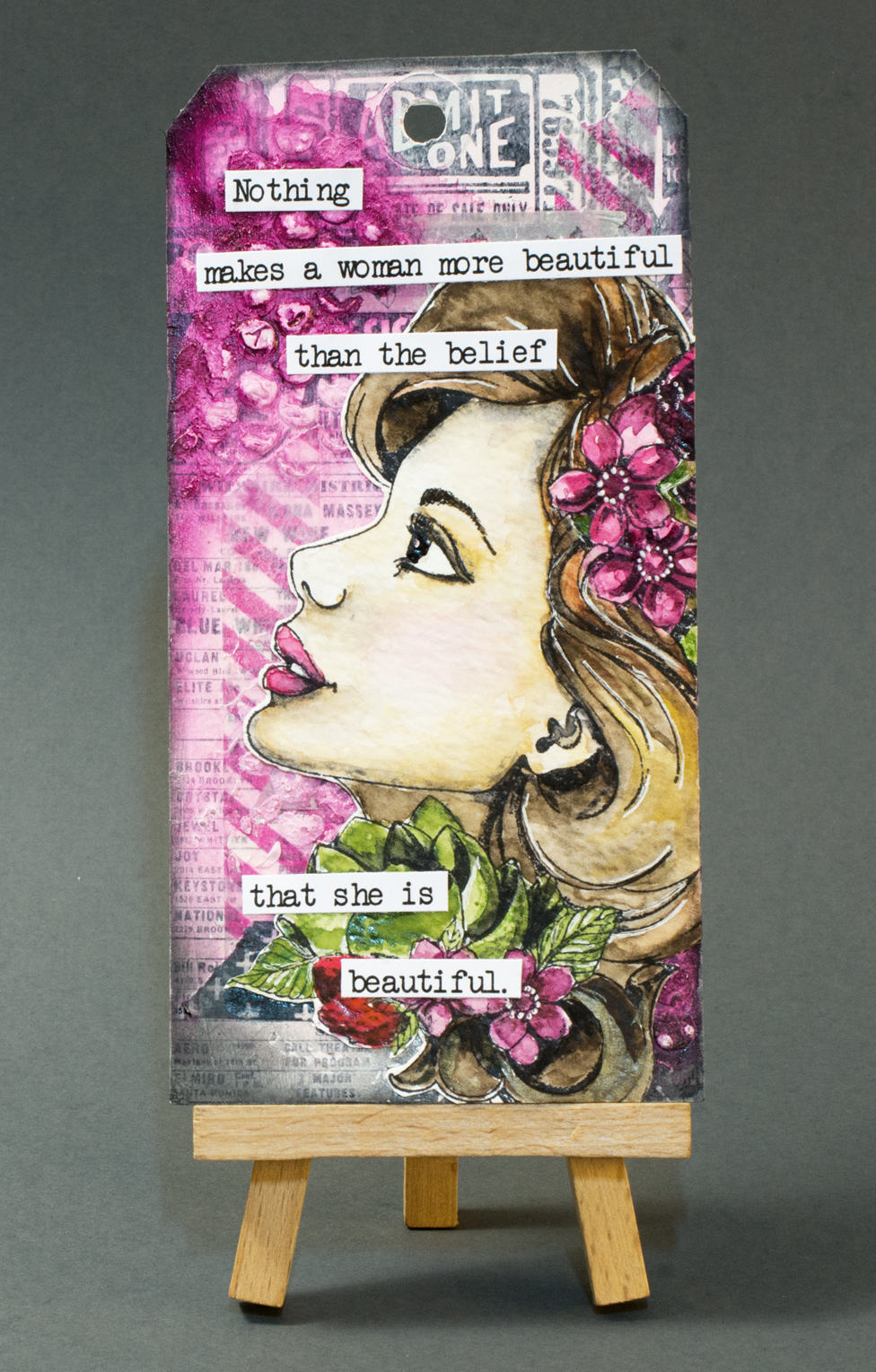 Tag for Craft Stamper Take It Make It March challenge: Beautiful women