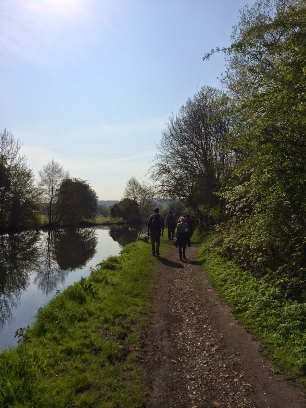 canal walk pilgrimage Easter Monday