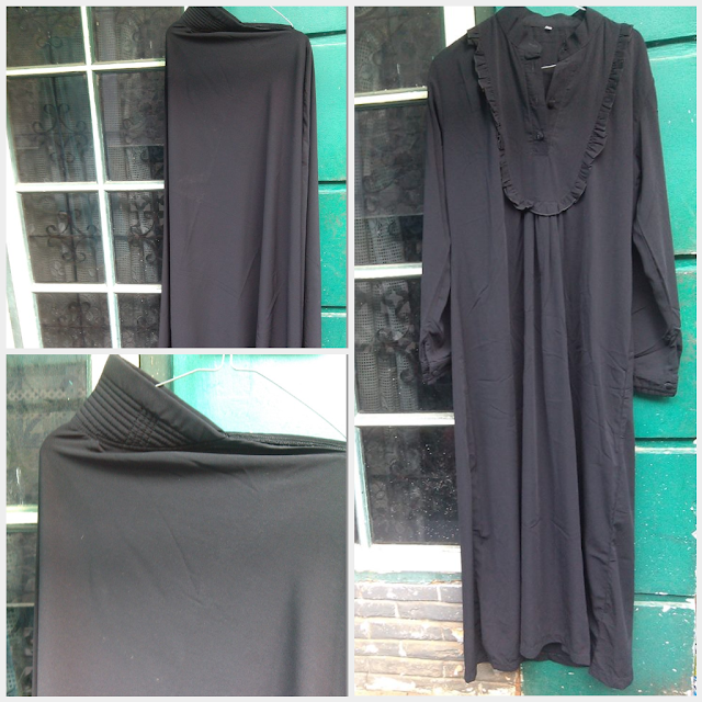 Model Gamis Syar'i Warna Hitam Second Murah