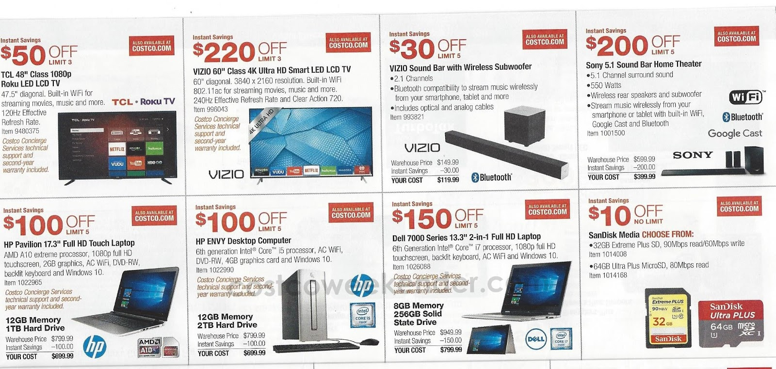Current Costco Coupon Book January 2016 Costco Weekender