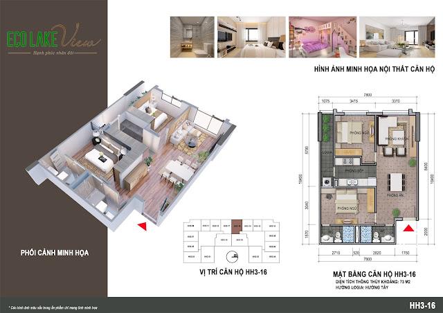Thiết kế căn hộ số 16 tòa HH03