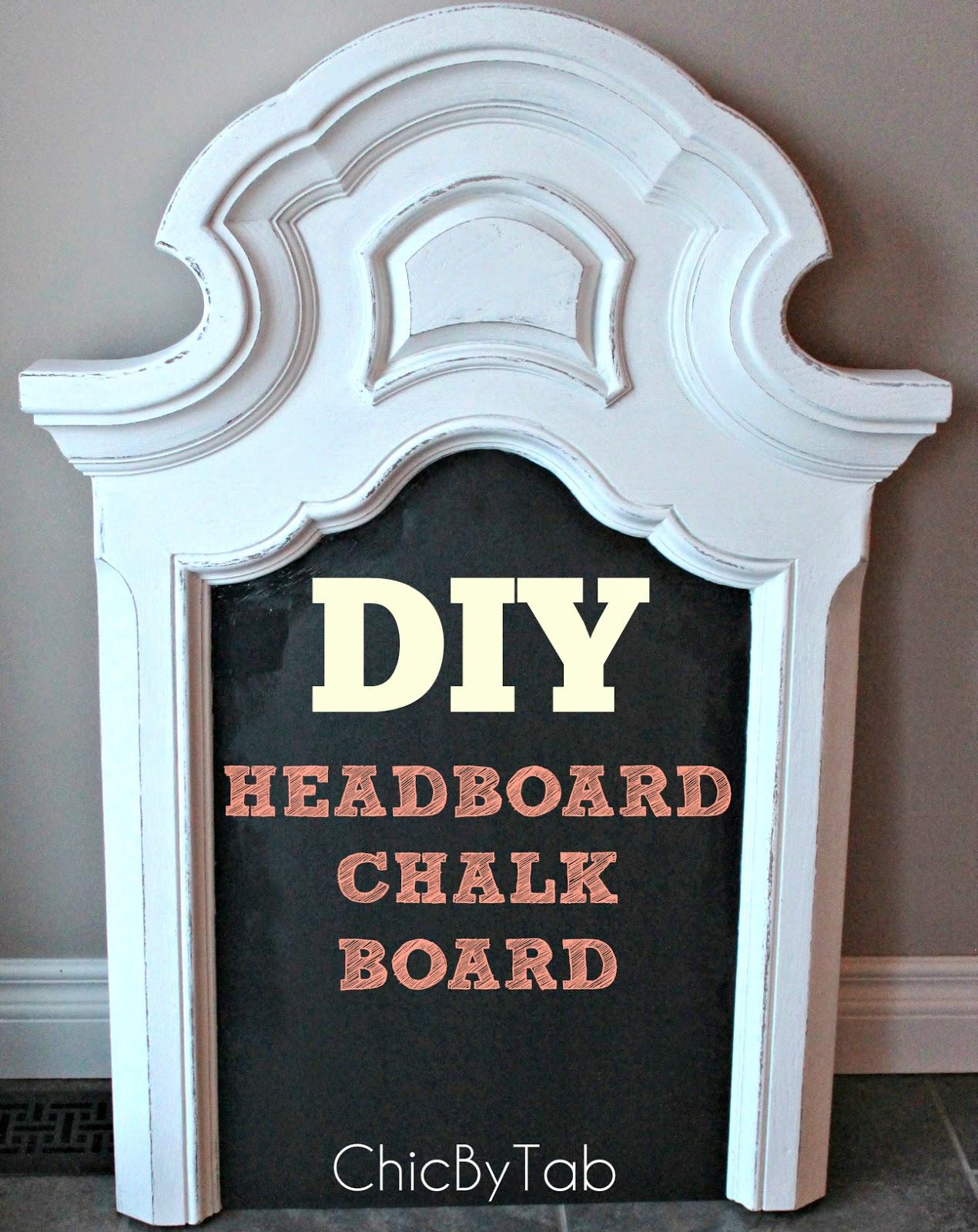 {ChicByTab}: Headboard Chalk Board DIY #2
